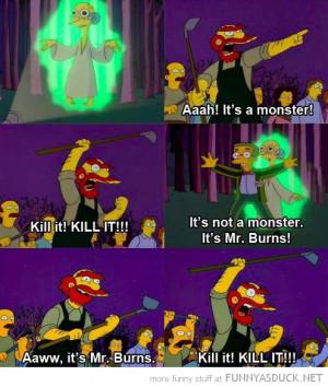 simpsons tv scene mr burns willie alien kill it funny pics pictures ...