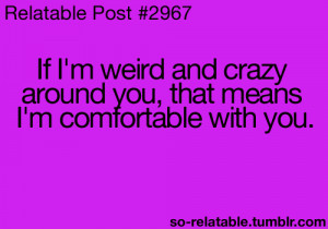 quote quotes weird friends crazy friend relate relatable