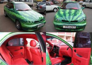 LOVE this watermelon car