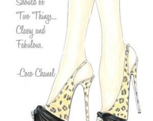 Animal print high heels fashion illustration, inspirational print ...