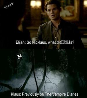 The Vampire Diaries TV Show Klaus & Elijah funny :D
