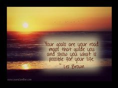 ... goals and dreams to make your future. #LesBrownQuotes http://www.Speak