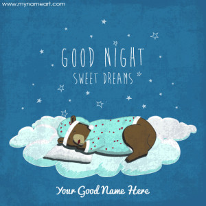 Good Night Cute Teddy Bear