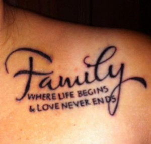 Family Quote Tattoos For Women Family quote t