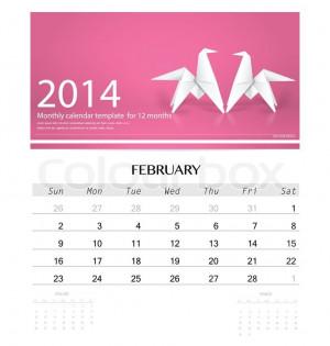 8301984-281230-2014-calendar-monthly-calendar-template-for-february ...