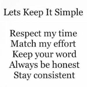 Lets keep it simple