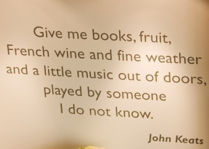 John Keats- shut up he's my all time fav!