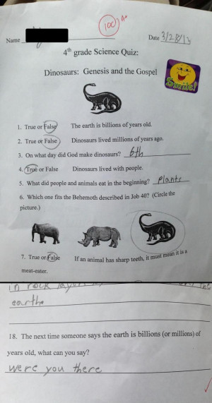 4th Grade Science Test