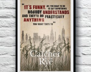 Quote Poster, The Catcher in the Rye, Housewares, Wall Decor, J.D ...