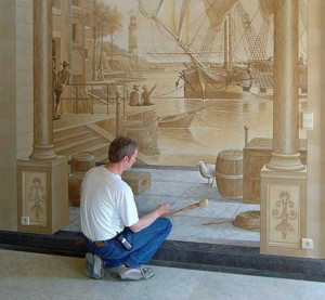 ... Classic Harbor Painting Wall Murals Palace – Wall Quotes Decals