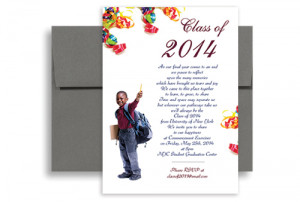 2015 5th Grade Elementary Graduation Invitation Example 5x7 in ...