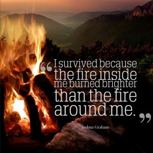 ... inside me burned brighter than the fire around me. - Joshua Graham