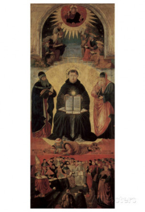 ... Gozzoli (Triumph of St. Thomas Aquinas on Averroes) Art Poster Print
