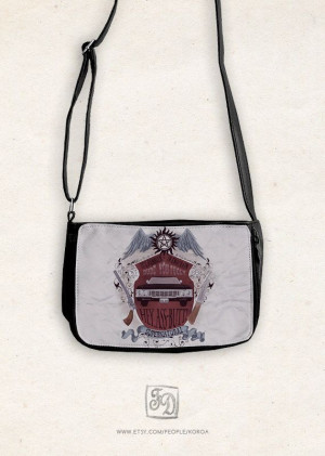 small shoulder purse SUPERNATURAL crest quotes by FeerieDoll # ...