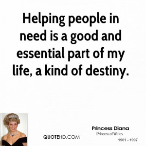 Princess Diana Quotes About Helping