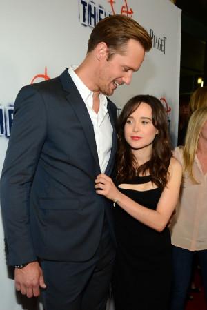 True Blood' Alexander Skarsgard and Ellen Page arrive at the premiere ...