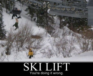 Ski Lift Motivational Pictures