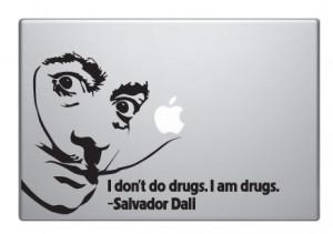 Salvador Dali Vinyl Macbook quote Decal Art - Thumbnail 1