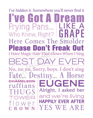 Disney Friendship Quotes From Movies Disney's tangled movie quote