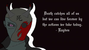 Anime Wallpaper with quote.. Wallpaper of Anime death i made with ...