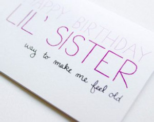 happy birthday younger sister quotes