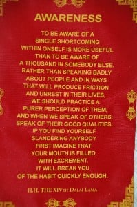 Details about WALL HANGING WITH DHARMA QUOTES FROM THE DALAI LAMA