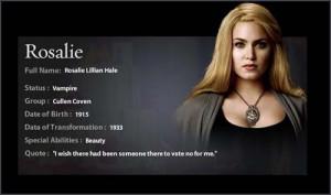 full name rosalie lillian hale status vampire group cullen coven date ...