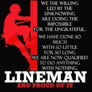 Lineman prayer! where is the one he always give me? I cant find it ...