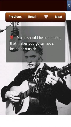 Elvis presley, quotes, sayings, about music, great