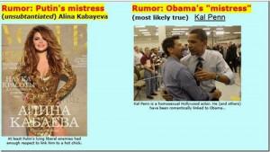 Vladimir Vladimirovich Putin Vs. Barack Hussein Obama...