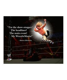 Another great find on #zulily ! Shawn Michaels Pro Quote Canvas by ...