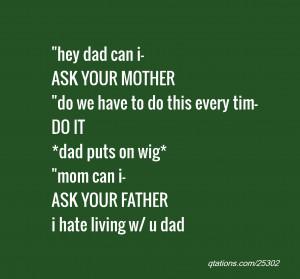 ... *dad puts on wig*