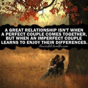 What a great relationship is...