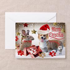 Corgi Christmas Surprises Greeting Card for