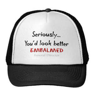 Funeral Director/Mortician Funny Hearse Design Mesh Hat