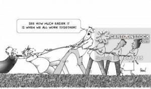 Cartoon Teamwork Team Building