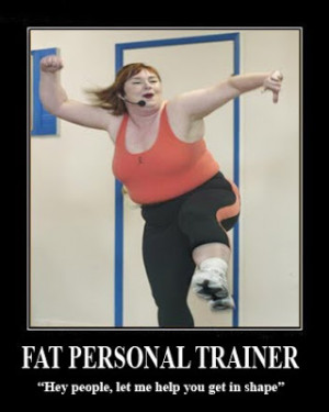 Personal Trainer Funny Gymmar lite och stinker en