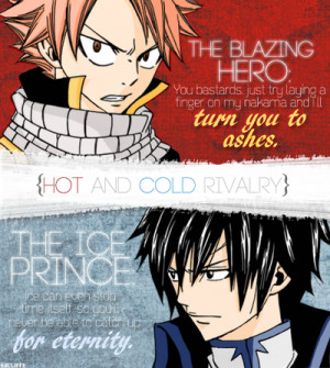 Natsu and Gray - fairy-tail Photo