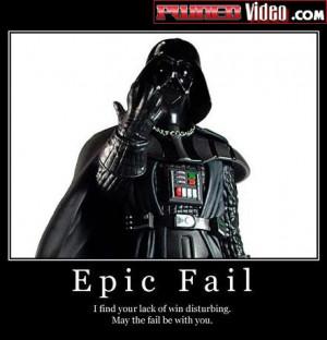 Epic star wars fail