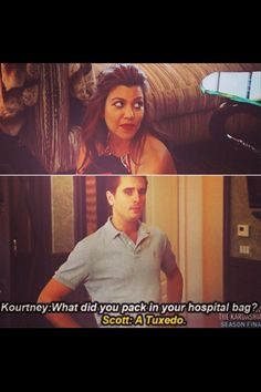 Kourtney Kardashian and Scott Disick are ridiculous. #KUWTK