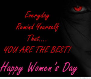 Womens Day quote wallpaper