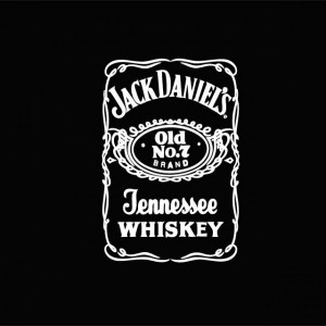 shirt black with logo Jack Daniel's white.