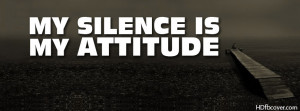 ... fb cover. Get new silent attitude quotes fb cover that can add