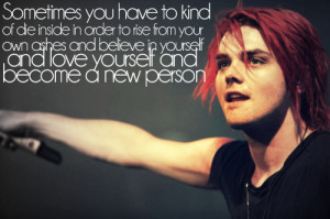 ... include: gerard way, quote, my chemical romance, inspirational and mcr