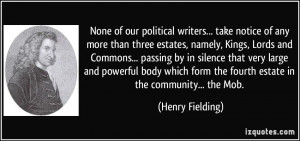 writers... take notice of any more than three estates, namely ...
