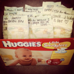 Baby Shower gift: write quotes/inspirations on diapers for the new ...