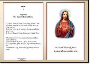 Home :: Memorial Cards :: Sacred Heart - Memorial Card