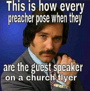 How to pose like a preacher