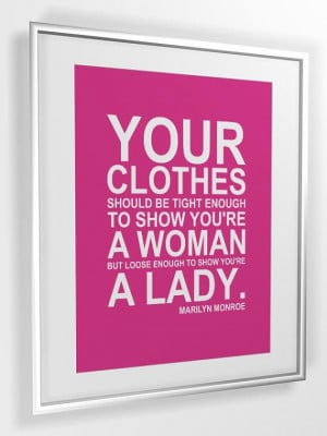 Quote print Your Clothes... by Marilyn Monroe... A4 or A3 PRINTABLE