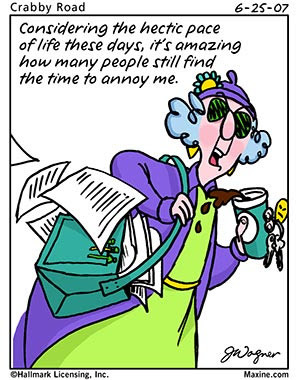 Don't you just love Maxine's tact???